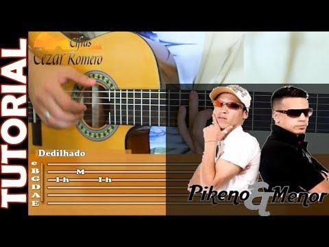 Aula de Violão VALEU AMIGO Pikeno e Menor -Completa com Batidas, acordes, solos, dedilhados