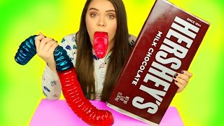 WORLD'S BIGGEST CANDY! Gummy Joker Tongue, Giant Hershey's, Giant Gummy Worm & More!