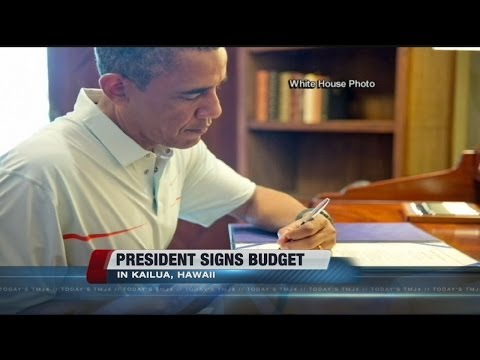 Pres. Obama signs budget bill into law