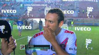 """Alemán: """"Los dos propusimos"""". Arsenal 1 - Boca 1. Fecha 16. Torneo Primera División 2014. FPT"""