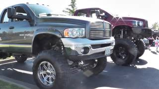 Huge Lifted Dodge Ram Truck With Big Tires