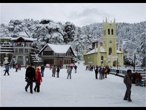 LIVE SNOWFALL IN SHIMLA   JAN ' 2013