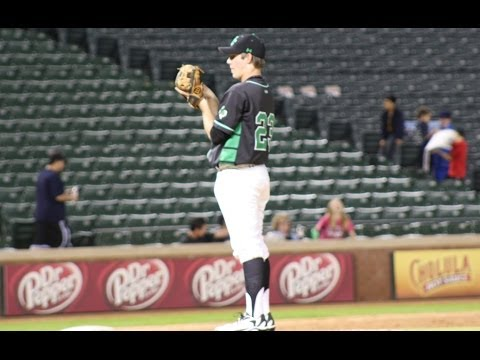 Drew Davis 2015    Pitching the 7th Inning @ Texas Rangers Ballpark Feb 17, 2014