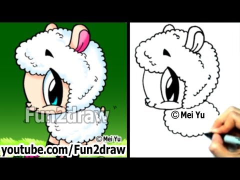 Mei Yu - Fun2draw - How to Draw Cute Animals - Cartoon Sheep