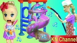 Đồ chơi trẻ em BÚP BÊ KN Channel TẬP LÀM LAO CÔNG TRONG TRƯỜNG HỌC