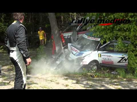 Martin Zellhofer accidents Wechselland-Rallye 2013