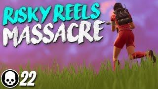 RISKY REELS MASSACRE! 22 Kill Solo Gameplay (Fortnite Battle Royale)