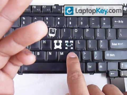 Laptop Keyboard Key Installation Repair Guide Toshiba Satelite
