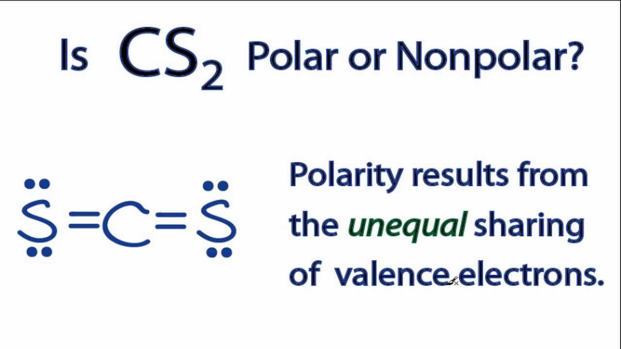 Is Cs2 Polar Or Nonpolar