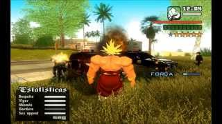 DRAGON BALL SKIN (BROLY ,SSJ ,3,4) GTA SAN ANDREAS BRASIL