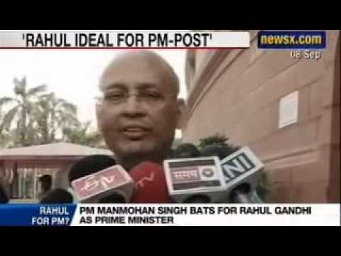 NewsX : Manmohan Singh bats for Rahul Gandhi as Prime Minister