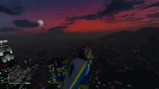 GTA V: How To HIJACK A BLIMP OUT OF THE SKY! (Landing