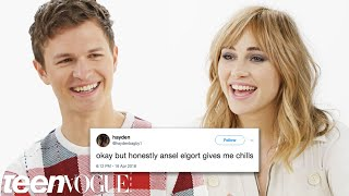 Ansel Elgort & Suki Waterhouse Compete in a Compliment Battle | Teen Vogue