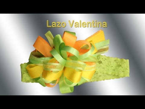 Como hacer lazos y cintillos: Lazo Valentina