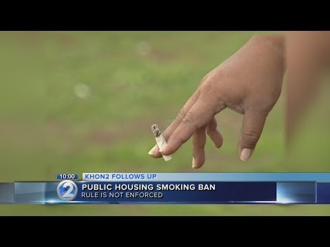 State halts no smoking ban at public housing