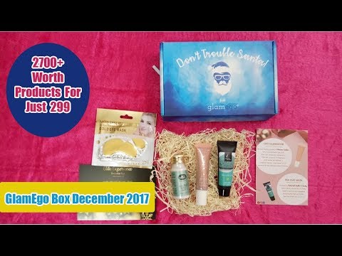 Glamego Box _ December | Luxury Brands, New Launches @ Rs 299 | Unboxing & Review | SahiJeeth