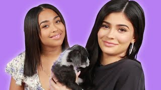 Kylie Jenner And Jordyn Woods Play With Puppies