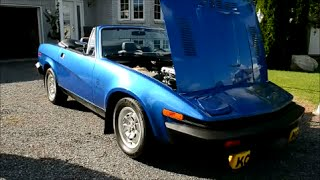 1980 TRIUMPH TR8 - V8 START UP & DRIVING