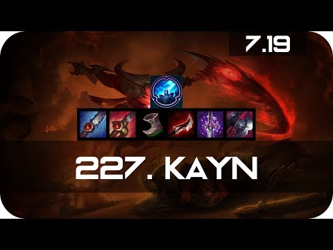 Kayn Jungle vs Kayn Season 7 s7 Patch 7.19 2017 Gameplay Guide Build Normals