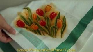 Tela Para Pintura Pintura Facil Para Ti.wmv