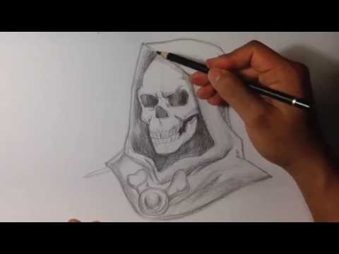 how to draw a skull from the side
