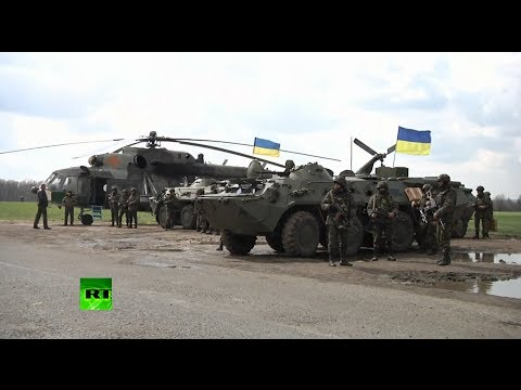 Video: Troops, military vehicles in eastern Ukraine as Kiev launches 'anti-terror op'