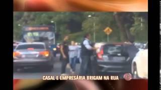 V�deo mostra agress�o entre empres�ria e comerciante na porta de escola no Bairro Santa L�cia