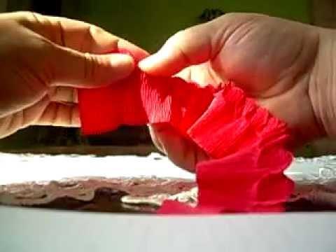 Różyczki z krepiny metodą