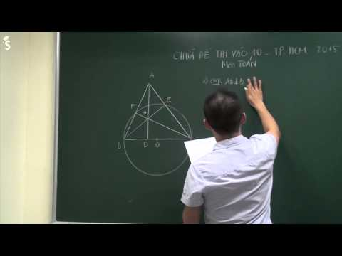 Đáp án đề thi môn toán vào lớp 10 TP.HCM - Năm 2015 (Chữa chi tiết)