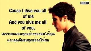 All Of Me - John Legend [By Glee] [Sub Thai] [lyrics Eng ] [ซับไทย]