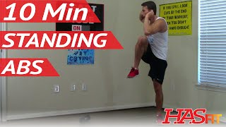 10 Min Standing Abs Workout HASfit Standing Ab Exercises