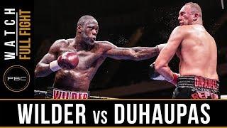 Wilder vs Duhaupas FULL FIGHT: Sept. 26, 2015 - PBC on NBC