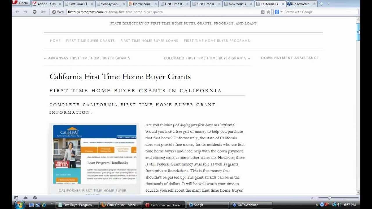 Home Buyer Grants California