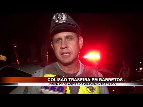 25/02/2019 - Homem de 58 anos fica gravemente ferido em acidente registrado na Rodovia Faria Lima em Barretos