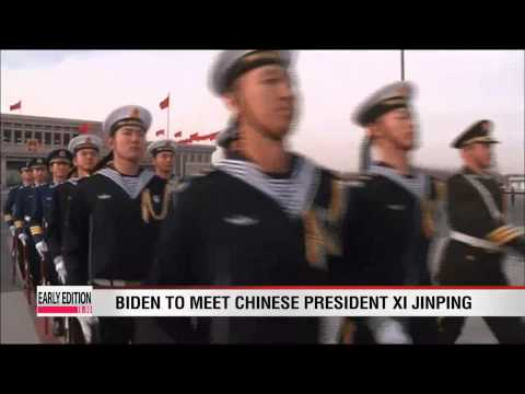 Biden arrives in China as tensions escalate over air zone