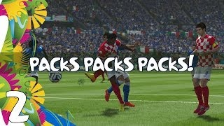 """FIFA 14 - Road to the Golden Bollocks: WORLD CUP - Ep.2 """"PACKS PACKS PACKS!"""""""