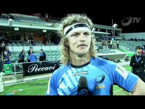 "Nick ""Honey Badger"" Cummins says Thanks to the Sea of Blue   Super Rugby - Nick ""Honey Badger"" Cummi"