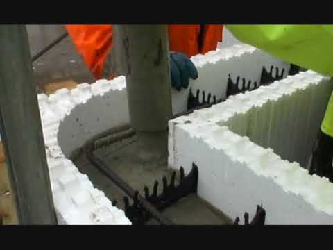 Amvic icf basement concreting youtube for Concrete basement forms