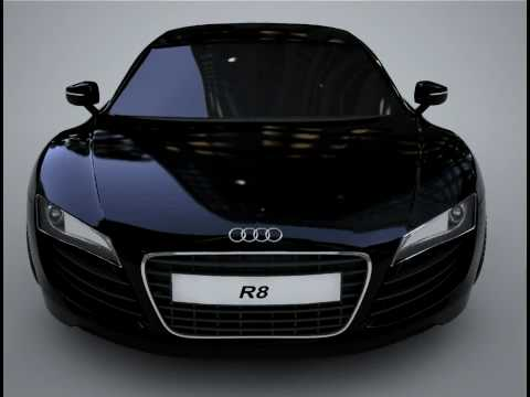 3ds max, TEST AUDI R8 BLACK  WITH VRAY  (WIP)