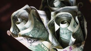DIY Origami Rose Money