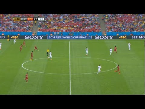 Spain vs Chile 2014 (2-0) All Goals and Highlights - World Cup Brazil (First Half)