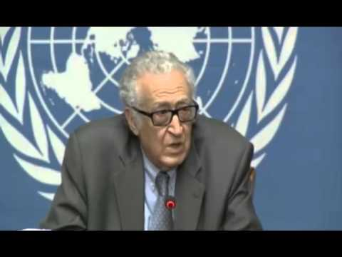 Syria \   Lakhdar Brahimi   Press Conference on Geneva, 29 January 2014