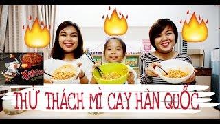 THỬ THÁCH MÌ CAY HÀN QUỐC - SUPER SPICY NOODLE CHALLENGE - SONG THƯ CHANNEL