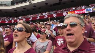 Texas Aggie Entrance and Aggie War Hymn UCLA Game 2016