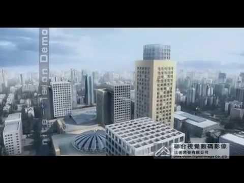 Animacja budowy architektury miasta