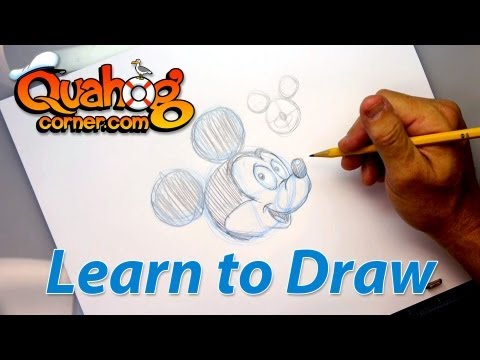 Quahog Corner: Drawing Lesson - How to draw Mickey Mouse