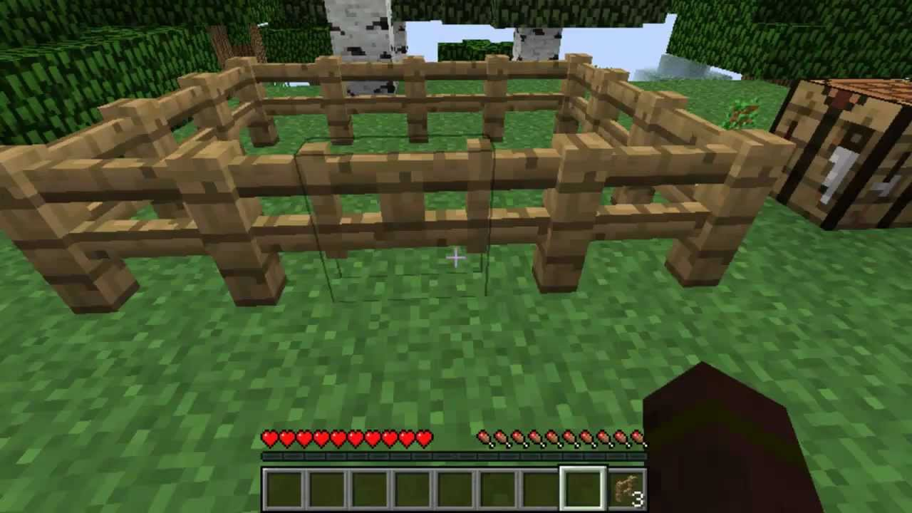 minecraft how to make a fence gate