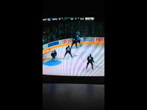 Winnipeg Jets vs San Jose Sharks 1/23/2014 part 5