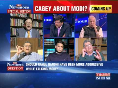 The Newshour Debate: Cagey about  Narendra Modi? - Part 3 (28th Jan 2014)