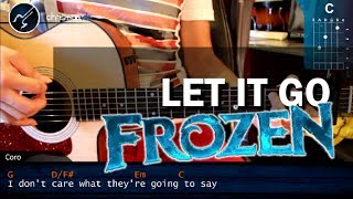Como Tocar Let It Go FROZEN En Guitarra Acustica (HD